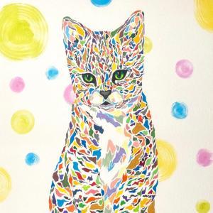 絵画 モダン アートパネル アート インテリア 雑貨 おしゃれ ロココロ 現代アート 縁起絵 猫 ねこ ネコ cat 画家 : nob 作品 : kitty|obeolysco