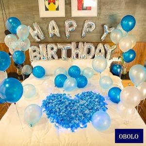 風船 パーティー 飾り付け 誕生日 飾り付け バルーン セット 送料無料 青 ブルー