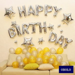 happy birthday !ハッピーバースデー 文字 装飾 お誕生日 パーティ を盛り上げる 風...