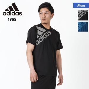 adidas/アディダス メンズ 半袖 Tシャツ ティーシャツ スポーツ ウェア ブラック 黒色 ブルー 青色 FSF86 oc-sports