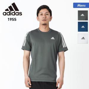 adidas/アディダス メンズ 半袖 Tシャツ ティーシャツ スポーツ ウェア 三本線 グレー ブルー ホワイト FTF30 oc-sports