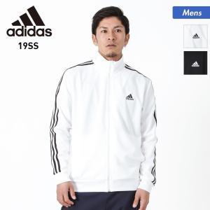 adidas/アディダス メンズ ジャージ ジャケット ラインジャージ スポーツ ウェア 三本線 ブラック 黒色 ホワイト 白色 FTL67|oc-sports