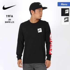 NIKE/ナイキ メンズ 長袖 Tシャツ ティーシャツ クルーネック ロングTシャツ ロンT 袖ロゴ 黒 ブラック ホワイト 白 CD9599|oc-sports