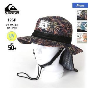 QUIKSILVER/クイックシルバー メンズ サーフハット UVカット 帽子 ぼうし 日よけ付き サファリハット ビーチハット 海水浴 プール QSA191752|oc-sports