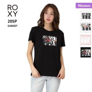 ROXY/ロキシー レディース 半袖 Tシャツ ティーシャツ ロゴ クルーネック トップス ホワイト ブラック ピンク 白 黒 RST201084 oc-sports