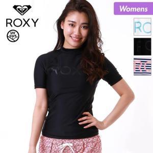 ラッシュガード 半袖 Tシャツ レディース 水着 ティーシャツ 紫外線対策 UVカット 吸汗速乾  ROXY  ロキシー RLY185072|oc-sports