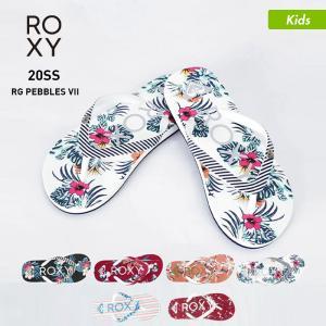 ROXY/ロキシー キッズ ビーチサンダル サンダル ペタサンダル ビーサン シャワーサンダル 柄 ARGL100264|oc-sports