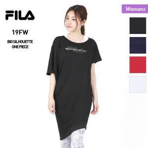 FILA/フィラ レディース ビッグシルエット Tシャツ ティーシャツ ワンピース フィットネスウェア ウエア ヨガウェア 349517|oc-sports