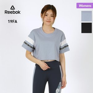 Reebok/リーボック レディース 半袖 Tシャツ ティーシャツ クロップトップ フィットネスウェア ウエア FVO18|oc-sports