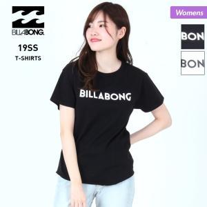 BILLABONG/ビラボン レディース 半袖 Tシャツ ティーシャツ ロゴ クルーネック トップス AJ013-217|oc-sports