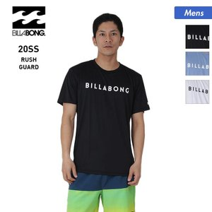 BILLABONG/ビラボン メンズ 半袖 ラッシュガード Tシャツ 吸汗速乾 水着 ロゴ 紫外線カット ビーチ 海水浴 プール BA011-861|oc-sports