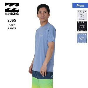 BILLABONG/ビラボン メンズ 半袖 ラッシュガード Tシャツ 吸汗速乾 水着 ロゴ 紫外線カット ビーチ 海水浴 プール BA011-870|oc-sports