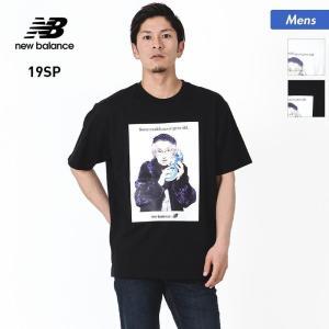 NEW BALANCE/ニューバランス メンズ 半袖 Tシャツ NBモデルT ティーシャツ クルーネック トップス MT91504|oc-sports