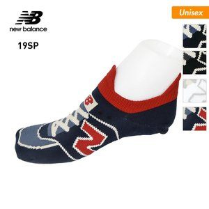 NEW BALANCE/ニューバランス メンズ&レディース 靴下 ソックス インナー シューズ柄 くつした くつ下 スニーカーソックス くるぶしソックス JASL8222|oc-sports