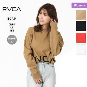 RVCA/ルーカ レディース ショート丈 長袖 Tシャツ ティーシャツ ロングTシャツ ロンT ロゴ AJ043-050 oc-sports