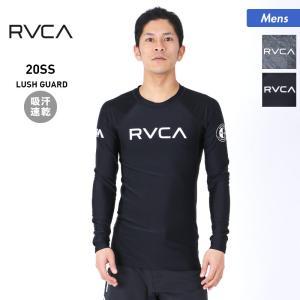 RVCA/ルーカ メンズ 長袖 ラッシュガード Tシャツ 吸汗速乾 水着 ロゴ 紫外線カット ビーチ 海水浴 プール BA041-859|oc-sports