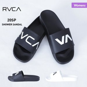 RVCA/ルーカ レディース シャワーサンダル ロッカーサンダル ペタサンダル ブラック ホワイト 黒 白 ロゴ BA043-975|oc-sports