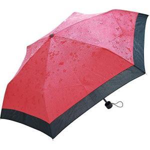 サントス 折りたたみ傘 撥水すると柄が浮き出る 50cm 桜うさぎ エンジ JK-75-01|oceans-asa