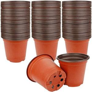 Rosi home 植木鉢 プラスチック製 プランター 底穴あり 110個セット フラワーポット 軽量 栽培ポット ミニ 多肉植物鉢 サボテン鉢 園芸 oceans-asa