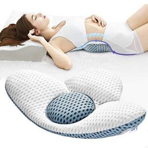 腰枕 就寝 低反発腰枕 腰まくら 腰 クッション 多機能 洗える敬老の日|oceans-asa