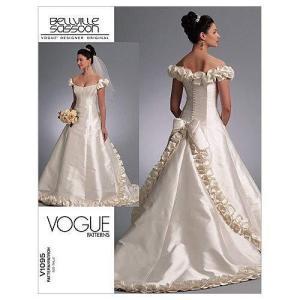 【vogue patterns】ウェディングドレス型紙 サイズ:US6-8-10|oceans-asa