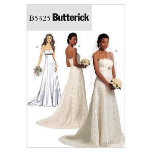 【Butterick】ウェディングドレスの型紙セット サイズ:US6-8-10-12 *5325|oceans-asa