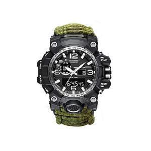 Ueasy 6-in-1 メンズ男性腕時計 釣り 腕時計 運動 デジタルウォッチ アウトドア 防水 コンパス キャンピング 山登り 釣り 多機能 腕時 oceans-asa