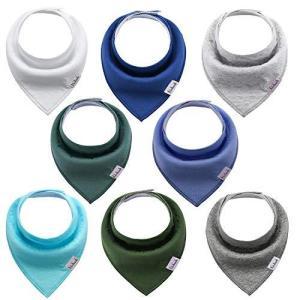 赤ちゃんの三角スカーフよだれかけ-男の子と女の子の無地8パックのバープ布綿吸収性ソフトネッカチーフ (色4)|oceans-asa