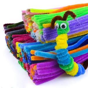 手芸モール 300本セット 手芸用品 工作モール シェニール・スティック カラーモール DIY飾り物 玩具 知育玩具 クリスマスツリー飾り 6歳以上の|oceans-asa