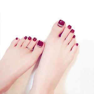 美脚魅せもばっちりでコーデ力抜群!足指の爪 夏の 24枚入り 足用 偽の爪 oceans-asa