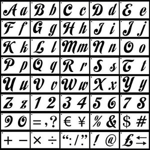 TOPTOMMY ステンシルシート アルファベット文字 数字セット 40枚入|oceans-asa