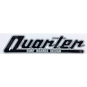 クォーターサーフボード QUARTER SURFBOARDS ステッカー  黒 棒ロゴ|oceanzone
