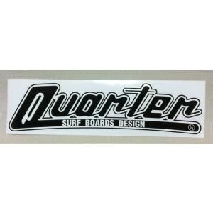 「クォーターサーフボード」QUARTER SURFBOARDS 特大ステッカー  ブラック 棒ロゴ|oceanzone