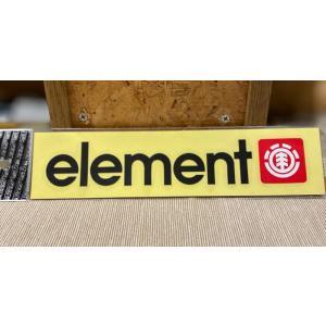 ELEMENT(エレメント)ステッカー 棒ロゴ 黒 定番ロゴ カッティングステッカー ※メール便可能 oceanzonesurf