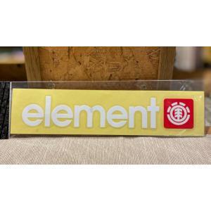 ELEMENT(エレメント)ステッカー 棒ロゴ 白 定番ロゴ カッティングステッカー ※メール便可能 oceanzonesurf