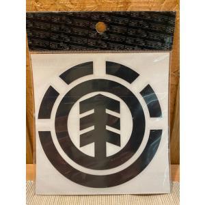 ELEMENT(エレメント)ステッカー メインロゴ 黒 定番ロゴ カッティングステッカー ※メール便可能 oceanzonesurf