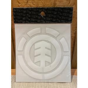 ELEMENT(エレメント)ステッカー メインロゴ 白 定番ロゴ カッティングステッカー ※メール便可能 oceanzonesurf