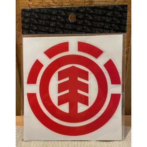ELEMENT(エレメント)ステッカー メインロゴ 赤 定番ロゴ カッティングステッカー ※メール便可能 oceanzonesurf