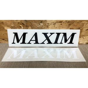 MAXIM(マキシム)ウェットスーツ カッティングステッカー 棒ロゴ大 黒白 ※メール便可能|oceanzonesurf