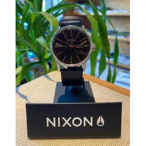 NIXON(ニクソン)Sentry Leather BLACKカラー 日本正規販売店 送料無料|oceanzonesurf