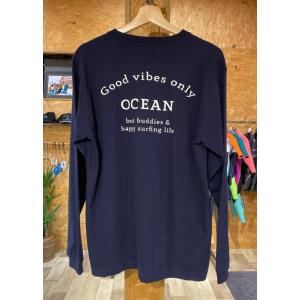 【OCEAN】ロングスリーブTEE ネイビー オリジナル ロンT|oceanzonesurf
