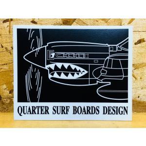 クォーターサーフボードステッカー「NOSUKE戦闘機(黒)」 ※メール便可能|oceanzonesurf