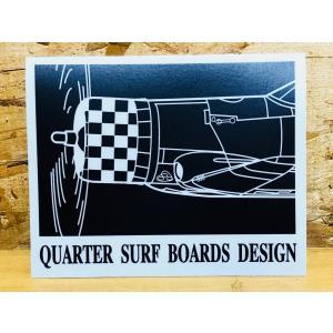 クォーターサーフボードステッカー「KUROKI戦闘機(黒)」 ※メール便可能|oceanzonesurf