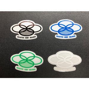 クォーターサーフボードステッカー「四つ丸 極小」カラー4色 ※メール便可能|oceanzonesurf