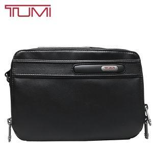 TUMI セカンドバッグ トゥミ クラッチバッグ ポーチ 本革 レザー 黒 ブラック|ocinc