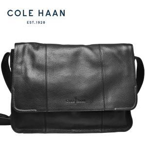 コールハーン Cole Haan メッセンジャーバッグ メンズ 本革 レザー PC収納 斜め掛け ショルダーバッグ 黒 ブラック【A11256】【送料無料】