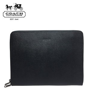 e8f09933c14b コーチ メンズ クラッチバッグ COACH MENS 本革 レザー iPad タブレットケース 黒 ブラック|ocinc ...