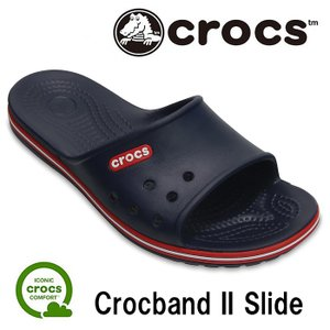 クロックス クロックバンド 2.0 スライド シャワーサンダル メンズ レディース サンダル クロック 紺 ユニセックス crocs Crocband II Slide Navy