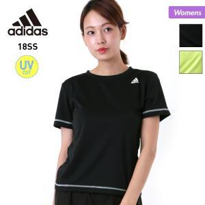 adidas/アディダス レディース 半袖 Tシャツ ティーシャツ スポーツウェア 吸汗速乾 ジム ヨガ フィットネスウェア EUD14