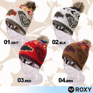 ROXY/ロキシー レディース ボンボン付き スノー ニット帽子 ビーニー 女性用